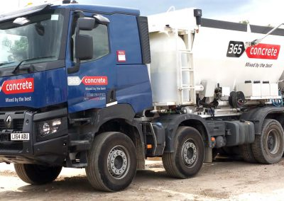 Ready Mix Concrete Volumetric Truck on site in London
