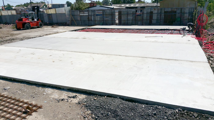 Concrete floor base by 365 Concrete - Industrial Yard