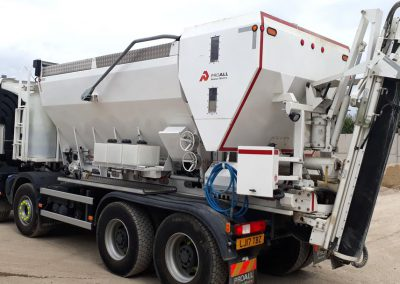 Cement Hopper from the Volumetric Ready Mix Concrete Truck by Premier MBP