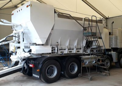 Volumetric Ready Mix Concrete Truck in the building stage