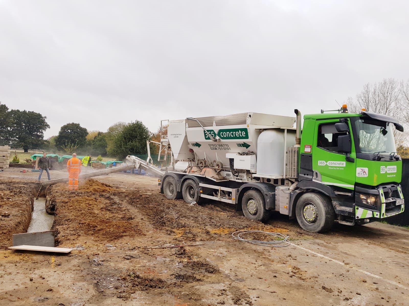 365 Concrete foundation concrete pour