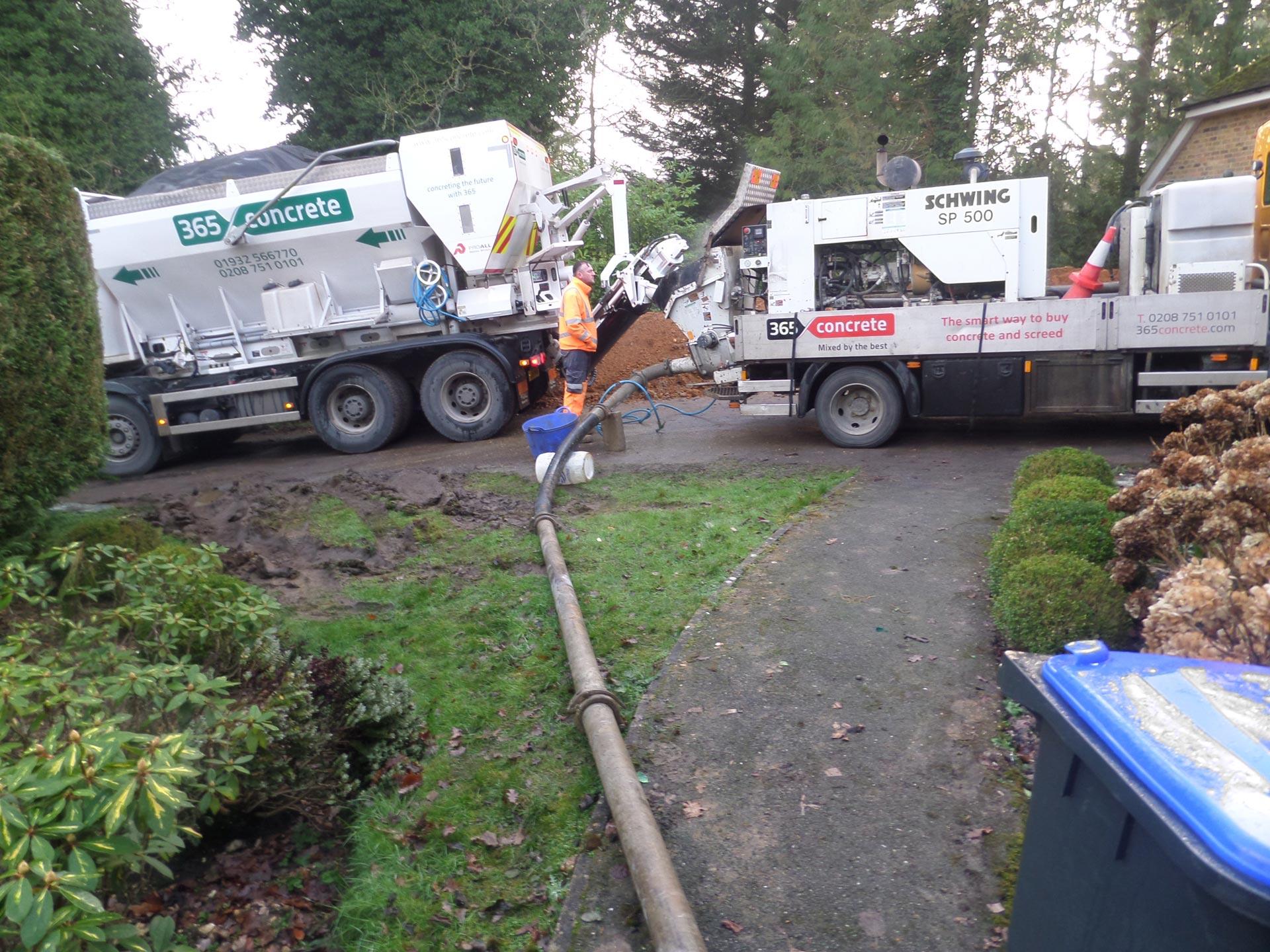 365 Concrete onsite using our Concrete Pump