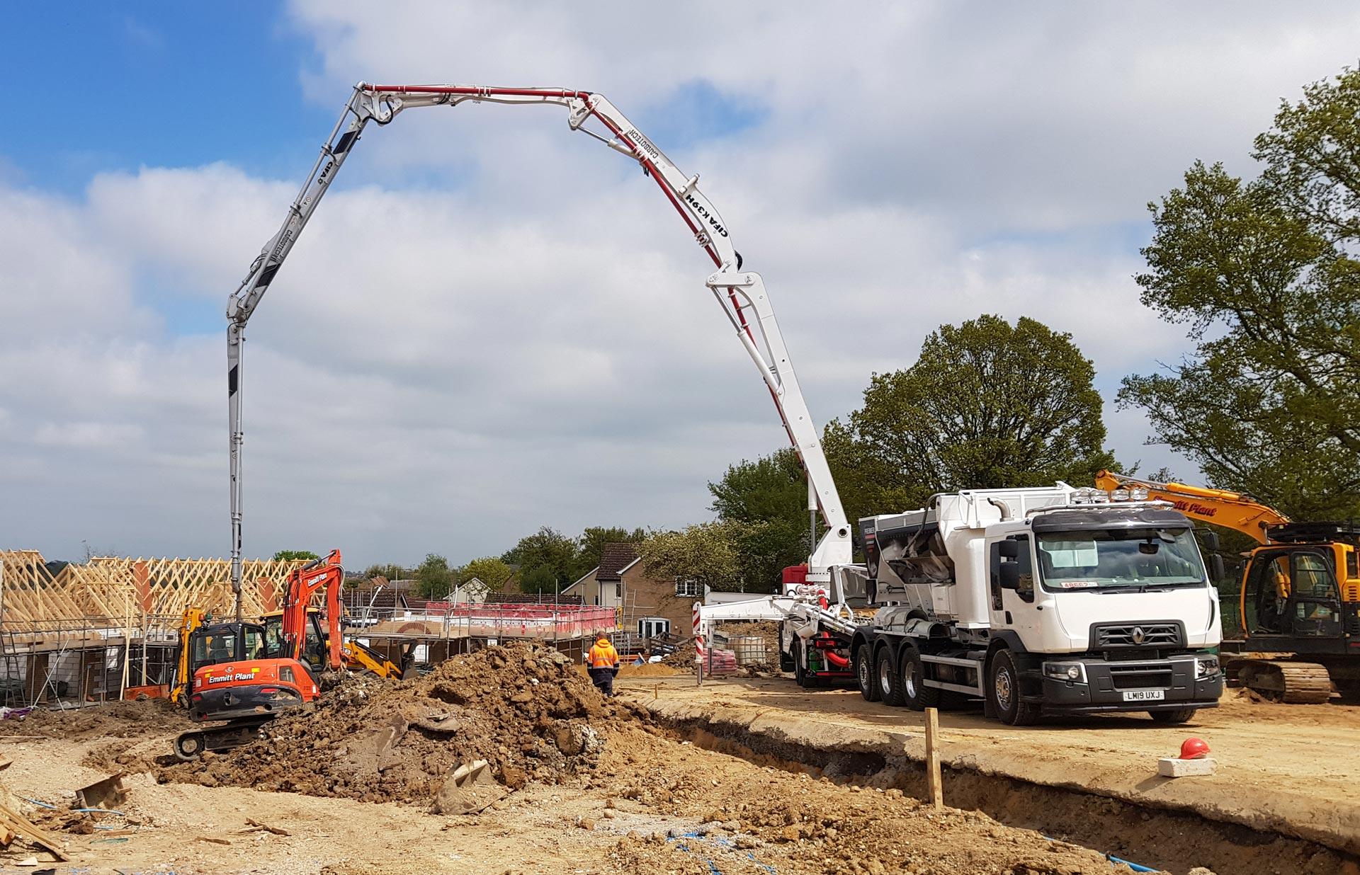 Concrete Boom Pump Hire at 365 Concrete