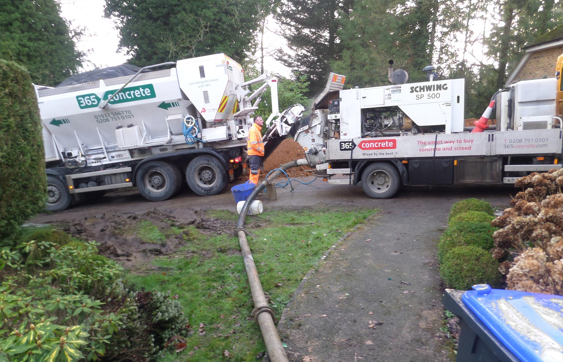 Ground Line Pump Hire with 365 Concrete